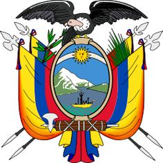 Coat of arms of Ecuador - Art and design inspiration from around the world - CreativeRoots Ecuador, Poster Colour, Color Posters, All Flags, Flag Art, Galapagos Islands, Coat Of Arms, Xmas Gifts, Disney Characters