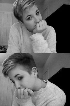 modern pixie w/ shaved sides- I'm thinking about going this route next time.