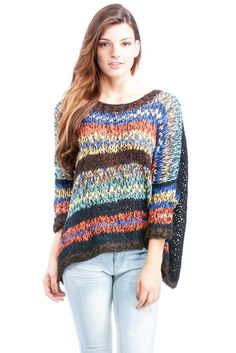 Multicolor Slouchy Sweater