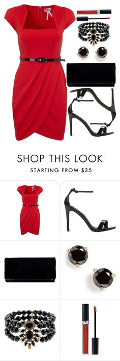 """Untitled #3190"" by natalyasidunova ❤ liked on Polyvore featuring Lipsy, Steve Madden, Kate Spade, Monet and Christian Dior"