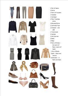 Create a capsule wardrobe - basics of a capsule wardrobe Capsule Wardrobe Work, Capsule Outfits, Fashion Capsule, Wardrobe Basics, Professional Wardrobe, Closet Basics, Work Outfits, Simple Wardrobe, Wardrobe Ideas