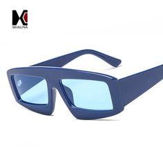 #DealOfTheDay #FASHION #NEW SHAUNA Popular Women Square Sunglasses Retro Men Blue Tinted Shades UV400