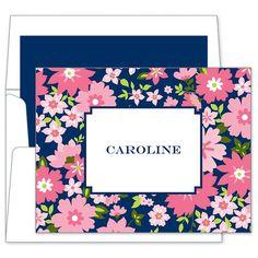 Caroline Floral Foldover Note Cards