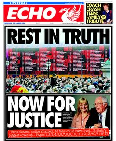 Liverpool Echo front page 13th September 2012