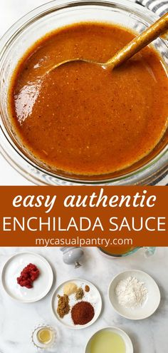 Best Enchilada Sauce, Recipes With Enchilada Sauce, Enchilada Gravy Recipe, Authentic Enchilada Sauce, Chicken Enchilada Casserole, Mexican Cooking, Mexican Food Recipes, Vegetarian Enchiladas, Beef Enchiladas
