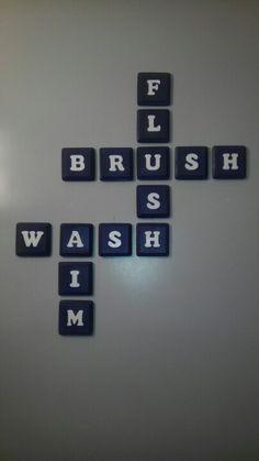 Bathroom decor idea.
