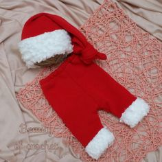 Baby boy Christmas outfit newborn boy pants and by BeautyOfCrochet