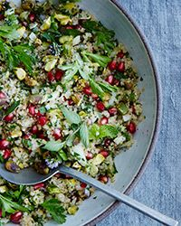 This hearty, Middle Eastern-inspired bulgur salad combines a flurry of mint and parsley with pomegranate, endive and pistachios.