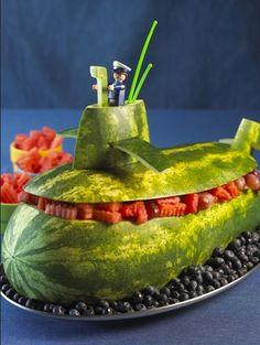Watermelon Carving Submarine