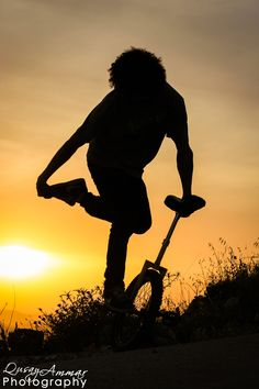 Photograph Unicycle Susnset by Qusay Abo Baker on 500px