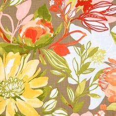 Modern Floral Fabric. $79.00, via Etsy.