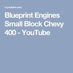 Searching the custom offsets gallery of over 7k vehicles how blueprint engines small block chevy 400 youtube malvernweather Gallery