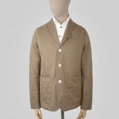 SEH Kelly - Fawn cotton drill onion stitch blazer