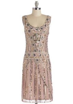 Art Deco Dusky Pink Gown