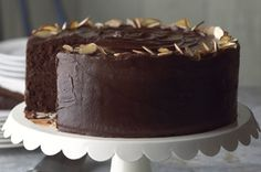 THE BEST Chocolate Cake Ever!  Recipe calls for sour cream and pudding for extra moist layers.