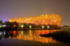 """Beijing National Stadium (""""The Bird's Nest""""), Beijing, China #architecture #china"""