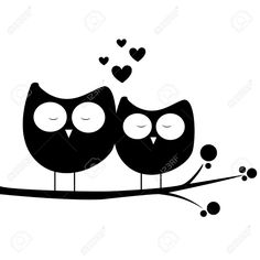 Designs Discover abstract owls in love on white background Abstract Owls In Love On White Background Royalty Free Cliparts . Stencil Art, Stencils, Art Sketches, Art Drawings, Motifs Animal, Silhouette Art, Silhouette Portrait, Stone Art, Rock Art