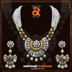 Designer Jewellery of Diamond Polki Pendant sets in store #atjewellers #wedjewels #anopchandtilokchandjewellers #polki #diamonds