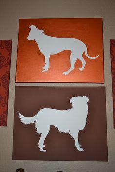 DIY: dog silhouette art