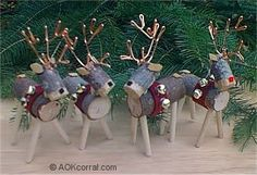 66 Rustic Christmas Crafts , reindeer from wood log. 66 Rustic Christmas Crafts , reindeer from wood log. Wooden Reindeer, Reindeer Craft, Reindeer Ornaments, Diy Christmas Ornaments, Christmas Holidays, Reindeer Christmas, Log Raindeer, Homemade Christmas, Merry Christmas
