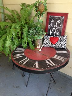 Table and chairs ready for booth.            Facebook.com/FairOakesSisters