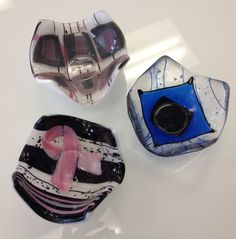 Fused Glass - votive holders --Glassateria