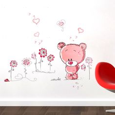Cheap stickers home decor, Buy Quality wall stickers home decor directly from China home decor Suppliers: Cute Lovely Pink Bear Nursery Girl Baby Kids Children Art Decal Wall Sticker Bedroom wall stickers home decor Cheap Wall Stickers, Wall Stickers Home Decor, Bear Nursery, Girl Nursery, Nursery Decals, Wall Decals, Pépinières Rose, Decoration, Art For Kids