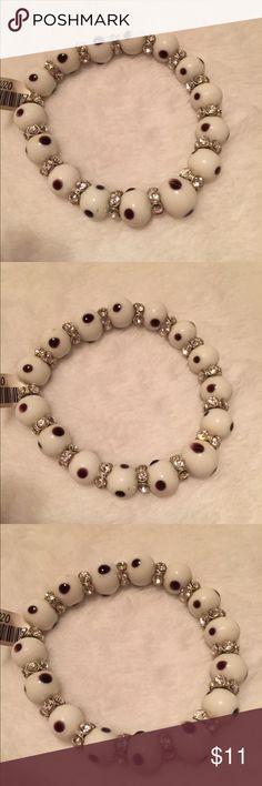 White Bling Snake Eye Bracelet NWT White Bling Snake Eye Bracelet BNWT. Msrp $15. Very shiny Jewelry Bracelets