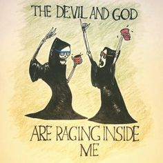 Brand New - The Devil and God Are Raging Inside Me comic. Pop Punk Lyrics, Brand New Lyrics, Brand New Tattoos, Punk Tattoo, Lyric Tattoos, Cool Rocks, New Bands, Panic! At The Disco, Future Tattoos