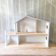 Wooden Doll House with Furniture détails Set Miniature À faire soi-même Manoir car toys gift