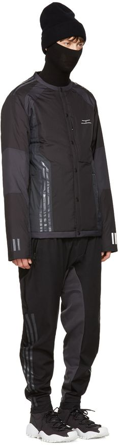 adidas x White Mountaineering - Black Cardigan Jacket