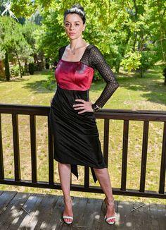 Handmade Dresses, Unique Dresses, Elegant Dresses, Tango Dress, Argentine Tango, Luxury Dress, Dress Silhouette, Black Power, Lace Skirt