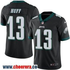 Men's Philadelphia Eagles #13 Josh Huff Black 2016 Color Rush Stitched NFL Nike Limited Jersey