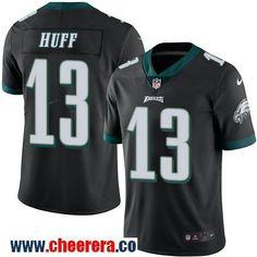 Men's Philadelphia Eagles #13 Josh Huff Black 2016 Color Rush Stitched NFL Nike Limited Jersey