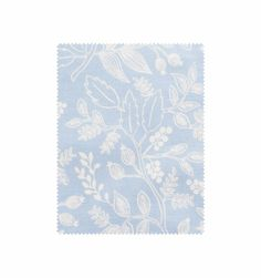 Queen Anne (Pale Blue) Screen Printed Cotton Fabric
