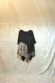 REVIVAL Women's Upcycled Boho Shirt Sweater Shabby Chic by REVIVAL