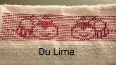 Swedish Embroidery, Diy And Crafts, Towel, Crochet Blankets, Free Crochet, Towels, Dots, Ana Rosa