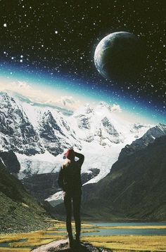 Towards The Within-7.  Surreal Mixed Media Collage Art By Ayham Jabr.