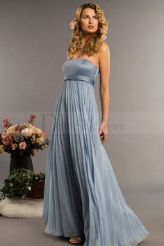 Fairy Look Empire Bridesmaid Dress in Pleated Chiffon