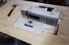 I have wanted a sewing table that my machine fit in. My husband said that he was up for the challenge. We searched for ideas on how to com...