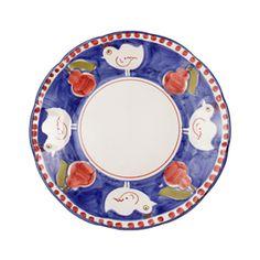 Solimene Blue Gallina Dinner Plate - Divertimenti UK