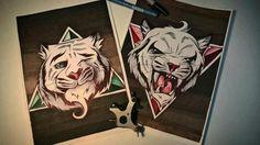 Tiger tattoo on sketch (on paper) illustrations by Evgeniy Paper Illustration, Illustrations, Tiger Tattoo, Tattoo Photos, Tattoo Artists, Lion Sculpture, Statue, Tattoos, Sketch