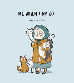 New-Fun-Cat-Illustrations-Lingvistov Funny Cats, Funny Animals, Cute Animals, Draw Animals, Baby Animals, Cats Humor, Animals Images, Draw Cats, Cool Cats