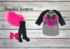 Oh Twodles Raglan/ 2nd Birthday Shirt/ Girls Second Birthday/ Minnie Mouse/ Glitter/ Hairbow/ Birthday Party Shirt/ Popular/ Top Seller by BeutiqueCreations on Etsy