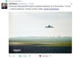 #Amazon Prime Air: Die erste Drohnen Lieferung ist erfolgreich