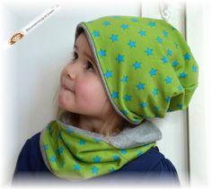 Baby/Kinder ★Wendebeanie ★ grün/grau ★ von Blumenmädchen auf DaWanda.com