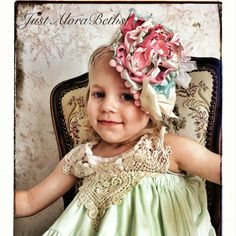 Shabby Chic Couture headband or sash  weddings by JustAloraBeths, $32.00