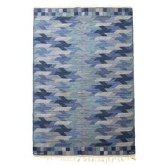 Hand-Woven Carpet by Barbro Nilsson for Märta Måås-Fjetterström AB | From a unique collection of antique and modern russian and scandinavian rugs at http://www.1stdibs.com/furniture/rugs-carpets/russian-scandinavian-rugs/
