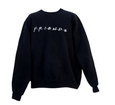 Vintage 90s Friends TV Show Promotional Sweatshirt Crewneck Adult Extra Large XL  F.R.I.E.N.D.S  Even if no one told you life was gonna be this way, you can still look amazing with this awesome 1990s vintage promotional crewneck of your forever favorite TV show: FRIENDS. Its emblazoned with the classic Friends logo in color on a black sweatshirt. Its a heavy material, definitely meant to keep you warm. Please message me with any questions…