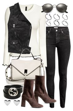 """Untitled #20552"" by florencia95 ❤ liked on Polyvore featuring Sans Souci, Rebecca Minkoff, Gucci, Ray-Ban and ASOS"